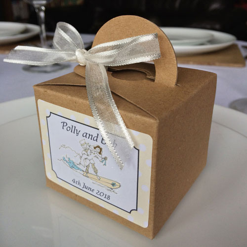 Beach Wedding Favour Boxes Cube Cool Wedding Stationery