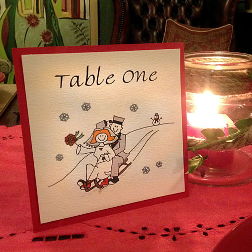 Winter Wedding Table Names Cool Wedding Stationery