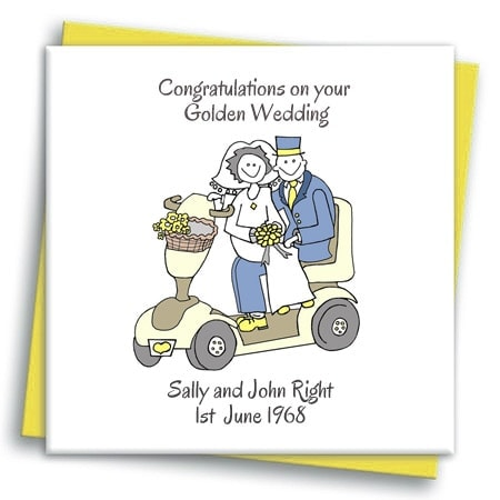 mobility scooter wedding card cool wedding stationery