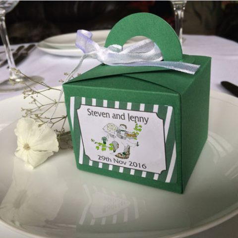 surfer wedding favour boxes cube   cool wedding stationery
